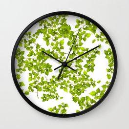 Green Leaf Art Wall Clock