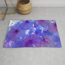Blue Cherry Blossoms Rug