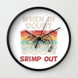 Martial Arts Taekwondo Fighter Design T-shirt Punch Kick When In Doubt Shrimp Out Karate JiuJitsu Wall Clock