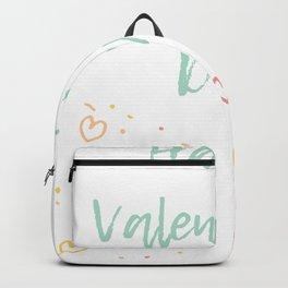 Happy Valentine's day! Wine + Hearts doodle art Backpack