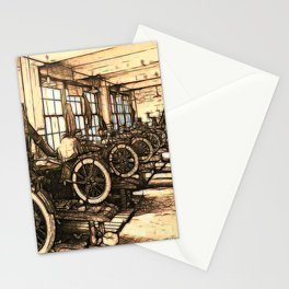Early motorcycle factory - Circa early 1900 Stationery Cards
