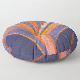 Bright Tropical Flower Floor Pillow