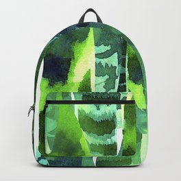 Exotic Textured Leaves Graphic Art Designs In Elegant Colors Backpack