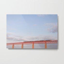 Train on Forth Bridge - Queensferry, Scotland  Metal Print