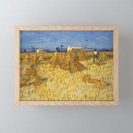 Corn Harvest in Provence by Vincent van Gogh, 1888 Framed Mini Art Print