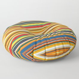 Modern Stripe Horizontal Simple Playful Kids Room Home Office Floor Pillow