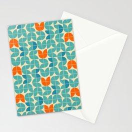 Mid Century Modern Scandinavian Tulips Stationery Cards