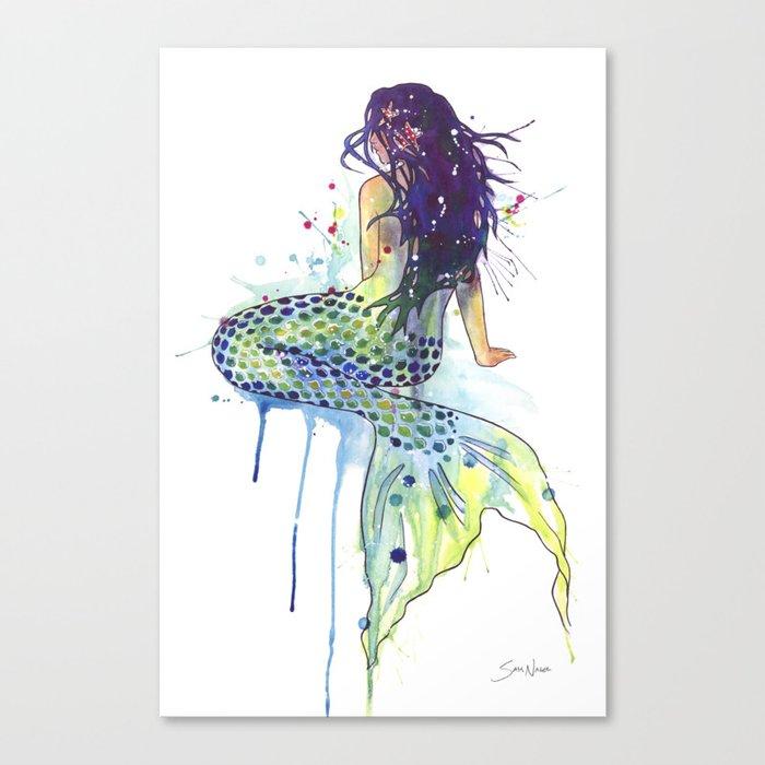 Mermaid Leinwanddruck