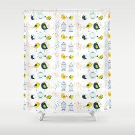 FREE BIRDIE Shower Curtain