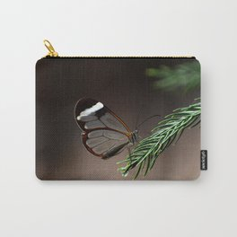 Glasswing Butterfly on pine needles Carry-All Pouch