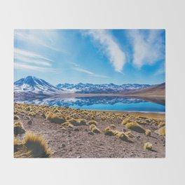 Laguna Miñiques, San Pedro de Atacama Desert, Chile Throw Blanket