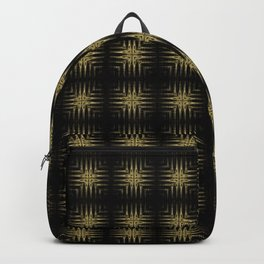 Black and Gold Shimmer Headlights Backpack