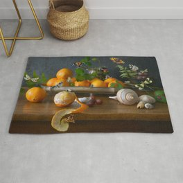 Still Life with Clementines Rug