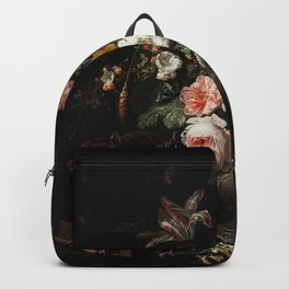 The Overturned Bouquet by Abraham Mignon Backpack