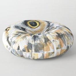 Owl Great Horned Bird of Prey Owls Animals Bird Wildlife Floor Pillow