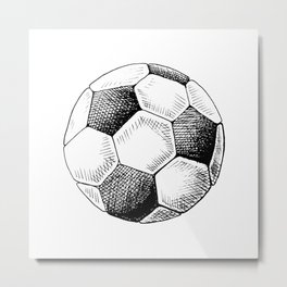 Football ball sketch Metal Print