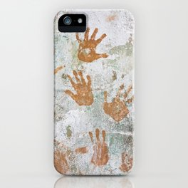 Hand Prints Native Cuban Cuba Trinidad Old Walls Stucco Latin America Caribbean Island Graffiti iPhone Case