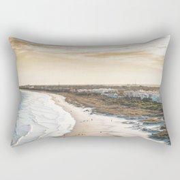 colorful, coastal, airial beach sunset photography, California boho art / print Rectangular Pillow