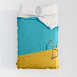yellow blue pool Comforters