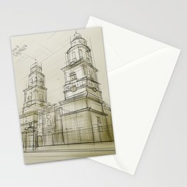 The cathedral of Morelia Stationery Cards