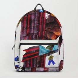 Old Mare In Barn Inked Backpack