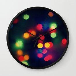 Lights of the Season Wall Clock