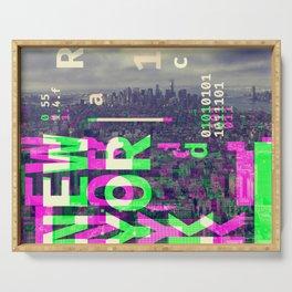 GLITCH CITY #51: New York Serving Tray