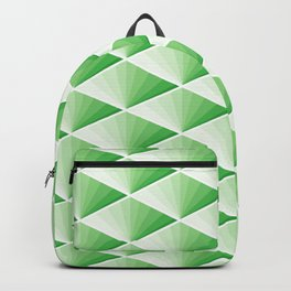 GREEN JAPAN TILE ART FANS PATTERN Backpack