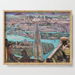 Mural of the Aztec city of Tenochtitlan by Diego Rivera Serving Tray