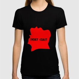 Ivory Coast Red Silhouette T-shirt