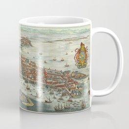 Vintage Map Print - 1636 bird's eye view of Venice by Matthäus Merian Coffee Mug
