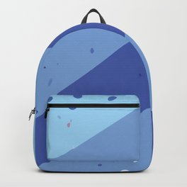 Abstract Geometric Modern Art Monochromatic Background in Cool Blue Color GC-118-6 Backpack