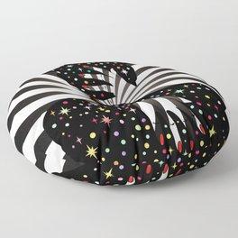 Mystical night Floor Pillow