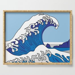 Great Wave of Humboldt - Daytime Serving Tray