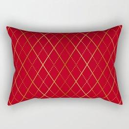 Argyle (Red) Rectangular Pillow