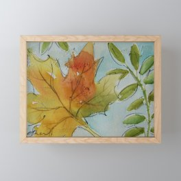 It's Falling Autumn Framed Mini Art Print
