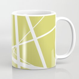 Mikado pattern graphic lines pastel yellow Coffee Mug