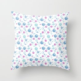 Colorful bubble pattern Throw Pillow