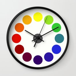 Bonnie E. Snow's and Hugo B. Froehlich's Larger Chromatic Circle (remake & interpretation) 1918 Wall Clock