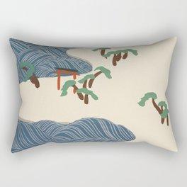 Kamisaka Sekka - Ocean waves from Momoyogusa Rectangular Pillow