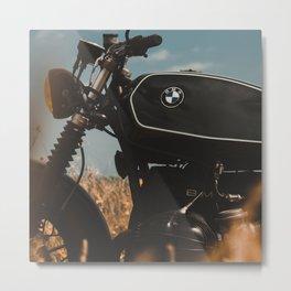 Vintage motorcycle photo, old motorbike, deep of field, bokeh effect, hasselblad Metal Print