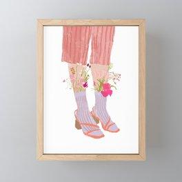 Floral Sandals Framed Mini Art Print