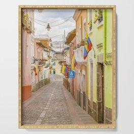La Ronda Street Quito Ecuador Serving Tray