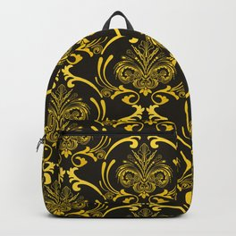Classic and Classy Art Deco Gold Grandeur Pattern Backpack