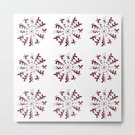 The Magic Circle of The Butterflies Metal Print