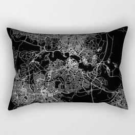 Canberra Black Map Rectangular Pillow