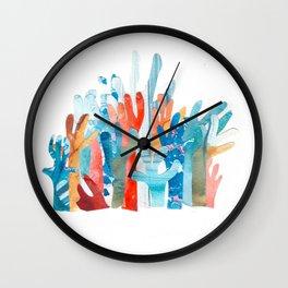 Coral Watercolor Family Wall Clock