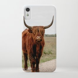 Highland Cow in nature   Scottish Highlanders, cattle in the Netherlands   Wild animals   Fine art travel and nature photography art print iPhone Case