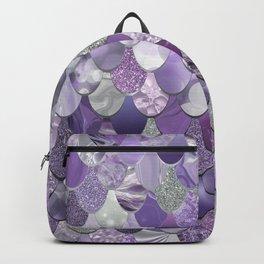Mermaid Purple and Silver Backpack