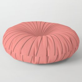 3D Pantone Living Coral Thin Striped Spiral Pinwheel Floor Pillow